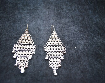 Chandlier Sterling Silver Earrings ~ FREE SHIPPING