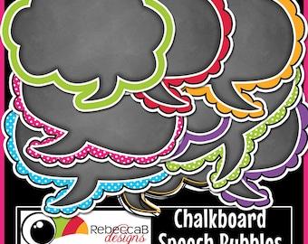 Chalkboard Speech Bubble Clip Art, Speech Bubbles, Chalkboard Clip Art, Speech Bubbles Clip Art, Printables
