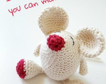 Crochet Amigurumi Kit : Millie Mouse (DIY Kit)