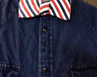 Barber's Stripe Bow Tie
