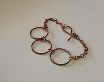 Patina ring bracelet