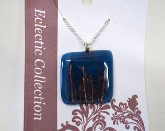 Fused Glass and Copper Necklace