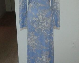 Vintage 1960s- 1970's maxi dress
