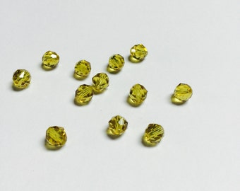 Swarovski 5025 Crystal Rounds 6 MM Lime - 12 Pieces - CB021