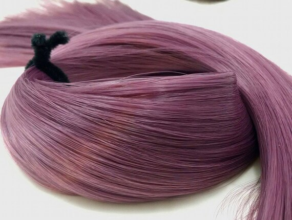 Leela Mauve Ash Purple Nylon Doll Hair Rerooting Hank Barbie, My little Pony, Sindy, Crissy, Monster High, Ever After, Blythe, Dawn, Mego