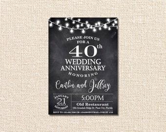 Wedding Anniversary Invitation 40th