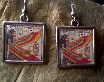 Ancient Egypt earrings-goddess Maat