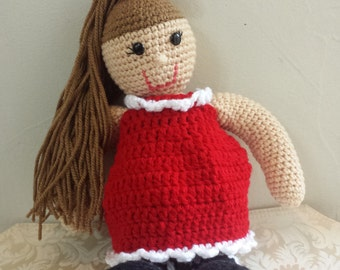 "Handmade Crochet Doll ""Cereza"" art"