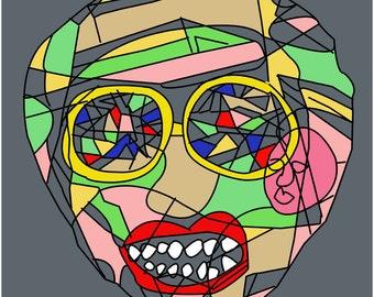 Psychedelic art, Pop art print, Unique art, Colorful Print, Poster print, surreal art, Digital print, Digital painting, Wall art, Modern art