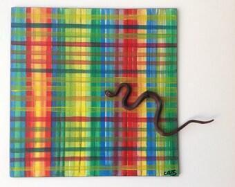 Table original acrylic painting on canvas cartonnee