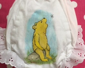 Hand Painted Baby Bloomers
