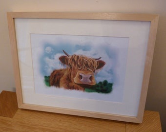 Highland Cow Print- 'Toffee'