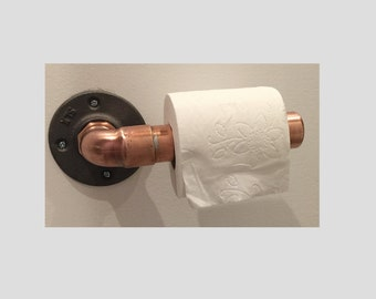 Copper toilet paper holder for bathroom