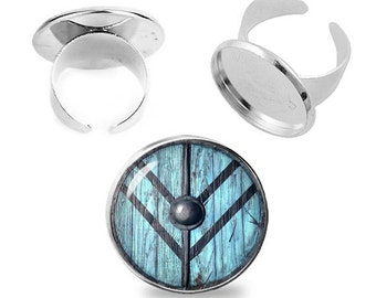 Lagertha Shield Ring Adjustable ring Vikings Fandom Jewelry Cosplay Fangirl Fanboy Gift for Her
