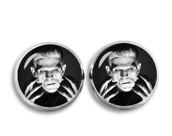 Frankenstein Stud Earrings Frankenstein Earrings Fandom Jewelry Horror  Fangirl Fanboy