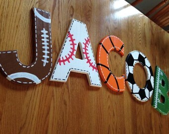 Sports Letters, Sports Letter, Full Name, Sports Decor, Sports Nursery, Boys Room Decor, Boys Room, Sports Room