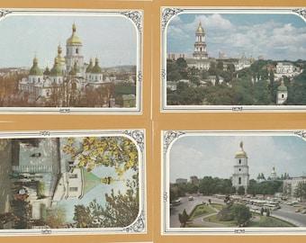 Kiev postcard set Rare soviet postcard City photos USSR vintage postcards Old postcards Collectible postcards Illustration art postcard