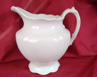 Ironstone Pitcher    Etruria - Mellor & Co.     Shabby Chic    White    Country Style