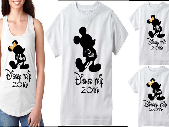 Disney Family Shirts Matching Family T-Shirts Disney Tank