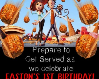 Cloudy with a chance of Meatballs Invite