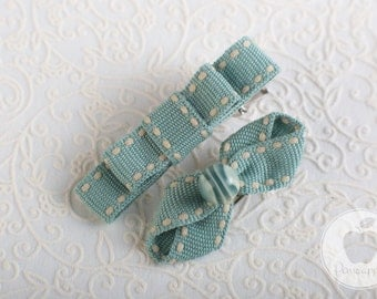 Hair Clip Set for Girls Pastel mint green, Hair Accessories for Girls, Baby Girl Hair Clips, Infant Hair Clips, Toddler Hair Bows