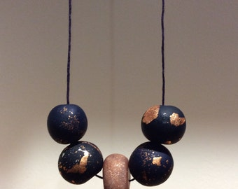 Night Sky- Polymer Clay Necklace