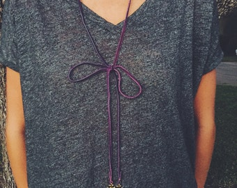 The Hailey-- Leather Wrap Necklace