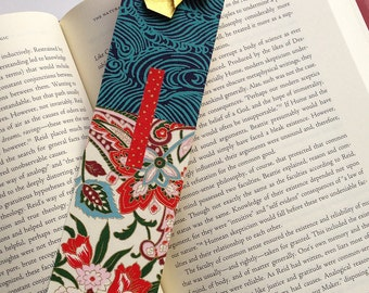 Butterfly Bookmark (red gold wave)