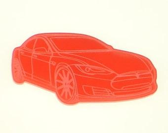 Tesla Model S Fridge/Refrigerator Magnet - Multiple Colours - Electric Car Gifts