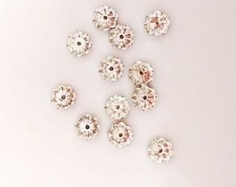 6mm Marguerite Beads, Swarovski Crystal Bead, Crystal Clear, Daisy Flower Bead, Lochrose Flower, Foil Back, Loose Beads, Diy Jewelry,YC9447