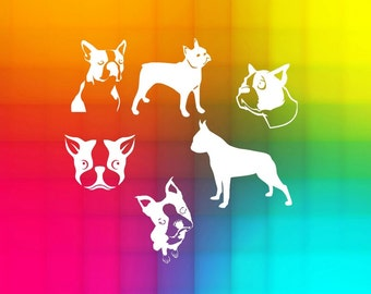 Boston Terrier SVG and DXF Cut File for Silhouette Studio, Cricut design space, SCAL files, instant download, digital files, dogs svg files