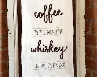 Coffee Whiskey Dish Towel
