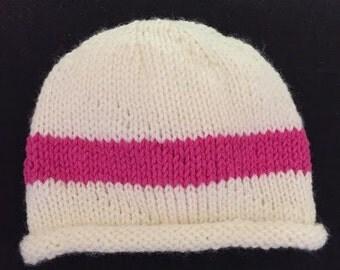 Knit Newborn Baby Girl Hat