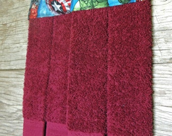 Avengers Hanging Towel, Hanging Hand Towel, Bath Towel, Kitchen Towel