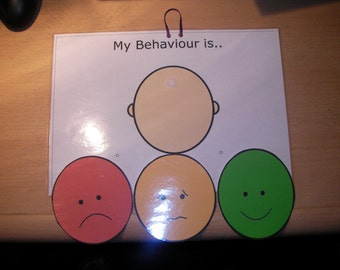 Traffic light behaviour board autism special needs