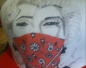 Custom painted snapback hat Marilyn Monroe