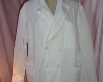 a white work or trade vintage jacket