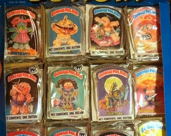 Vintage Garbage Pail Kid buttons