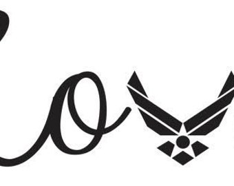 Downloadable Air Force Love SVG
