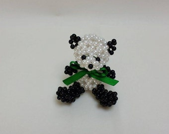 Beaded Panda Bear Designed and Crafted