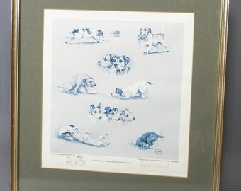Limited Edition Print Of Dogs Louise Wood