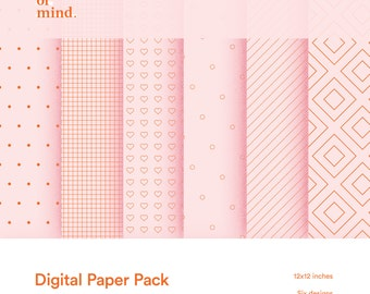 Digital paper six pack (v1) - Instant Download