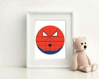 Spiderman Little Boy- Nursery and Children's Room art print