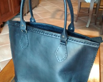Handbag, genuine leather