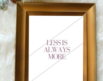 Wall Print // Less Is Always More