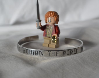 "Bracelet: ""Home is behind, the world ahead"" from LOTR by Tolkien"