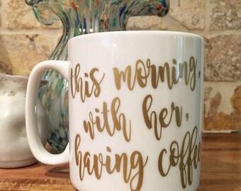 Large Johnny Cash Quote Coffee Mug