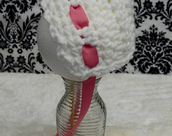 Girl Bonnet with Pink Bow