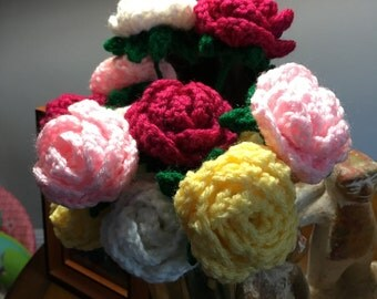 Multi-Colored Bouquet of Roses