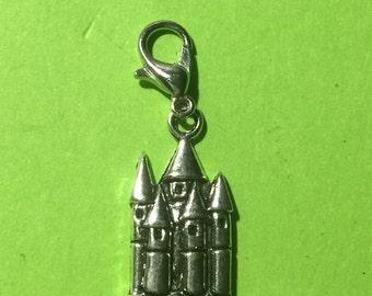 Silver Princess Castle Dangle Charm